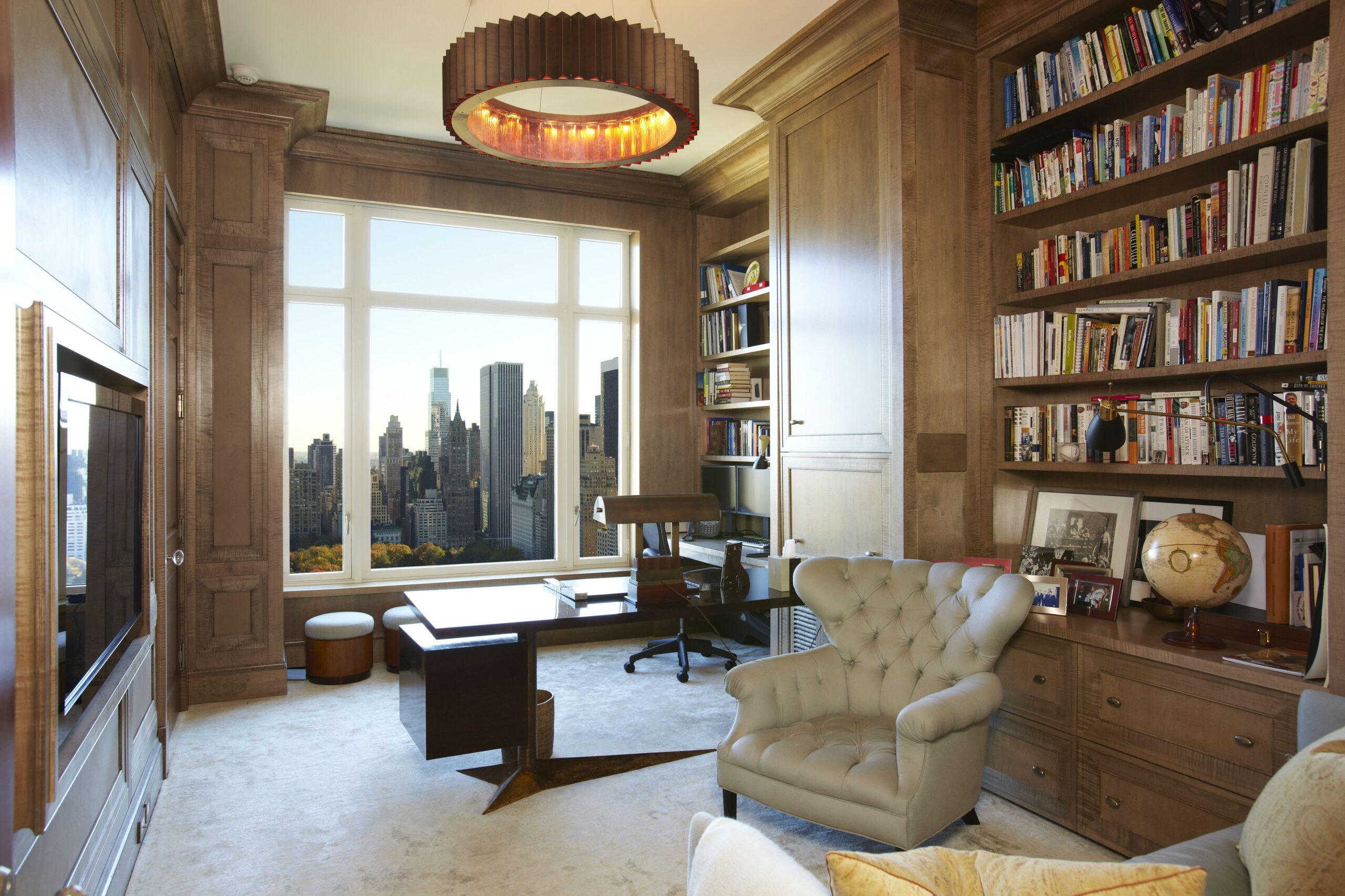 15 CPW Leather paneled Library